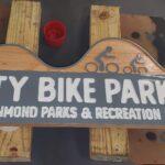 City Bike Park Cedar Sign