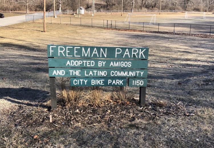Freeman Park - City Bike Park Signage
