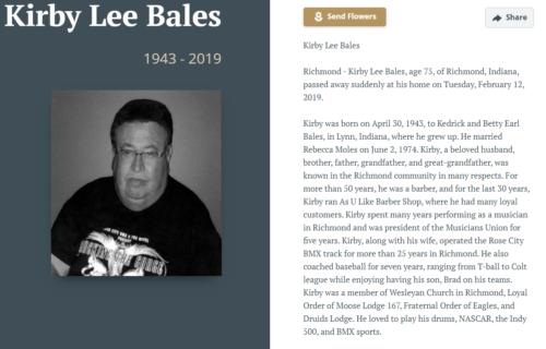 KirbyBales-Obiturary 1943-2019