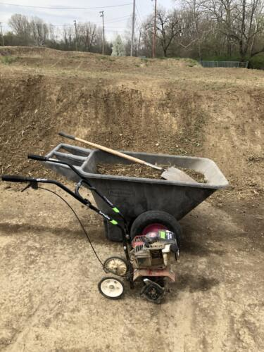 Tilling and clearing BMX track